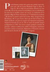 Elisabeth Vigée Le Brun - 4ème de couverture - Format classique