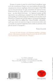 Chéri-bibi (édition 2010) - 4ème de couverture - Format classique