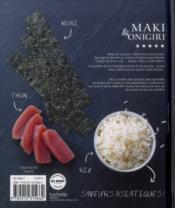 50 best maki & onigiri - 4ème de couverture - Format classique
