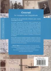 Conrad ; le voyageur de l'inquiètude