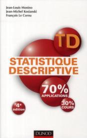 TD de statistique descriptive (4e édition)