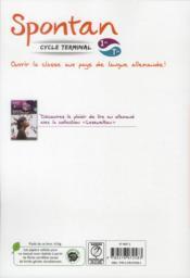 Spontan ; Allemand ; 1ère/Terminale ; Manuel De L'Elève (Edition 2012) - 4ème de couverture - Format classique