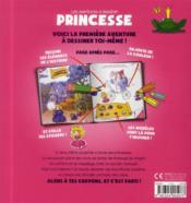 Les aventures à dessiner ; princesse - 4ème de couverture - Format classique
