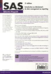 Sas, 3e Edition - 4ème de couverture - Format classique