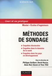 Méthodes et sondage ; cours et cas pratiques ; master, écoles d'ingénieurs