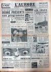 Presse - Aurore (L') du 15/01/1959