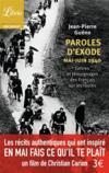 Livres - Paroles d'exode, mai-juin 1940 ; lettres et témoignages des Français sur les routes