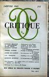 Presse - Critique N°212 du 01/01/1965