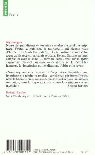 barthes mythes striptease Mythologies mythologies books by roland barthes a barthes reader striptease that myth cannot possibly be an object.