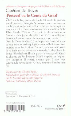 Livre perceval ou le conte du graal chr tien de troyes - Contes et legendes des chevaliers de la table ronde resume ...