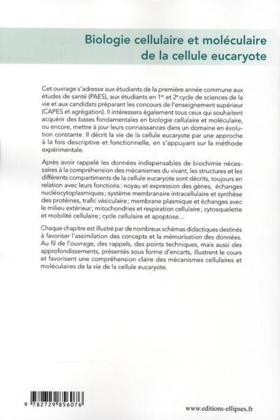 livre - biologie cellulaire et mol u00e9culaire de la cellule eucaryote