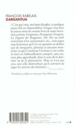livre gargantua fran 231 ois rabelais
