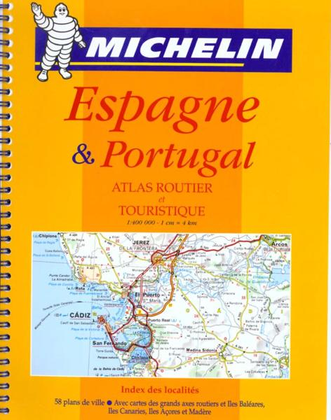 livre atlas routiers et touristiques espagne portugal 1 400000 collectif michelin. Black Bedroom Furniture Sets. Home Design Ideas