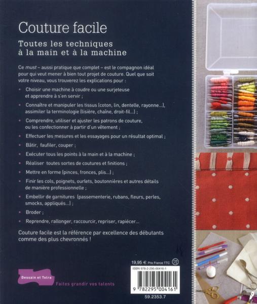 livre couture facile toutes les techniques la main et la machine collectif. Black Bedroom Furniture Sets. Home Design Ideas