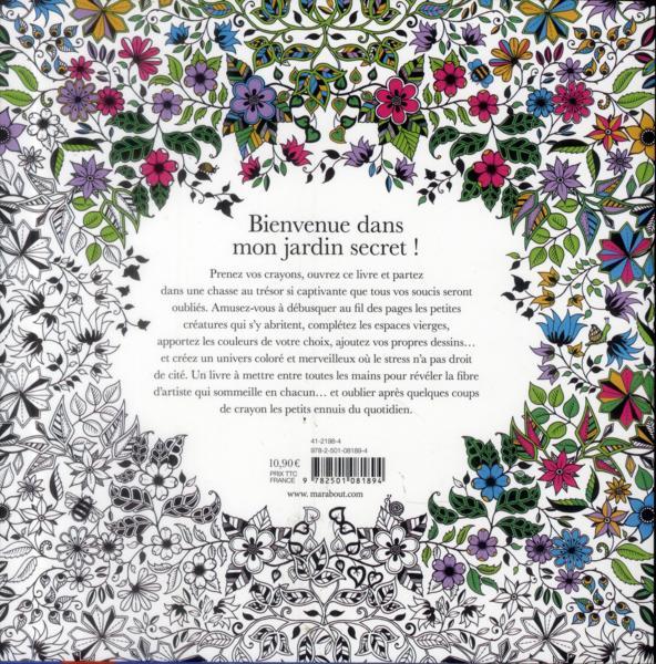Livre jardin secret carnet de coloriage et chasse au for Jardin secret des hansen
