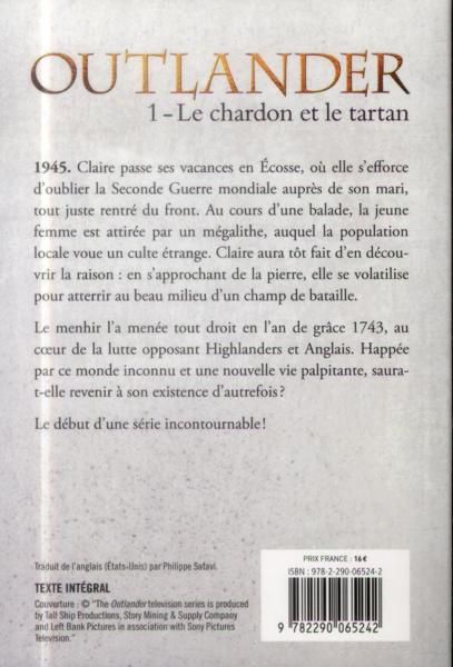 Livre Outlander T 1 Le Chardon Et Le Tartan Diana border=