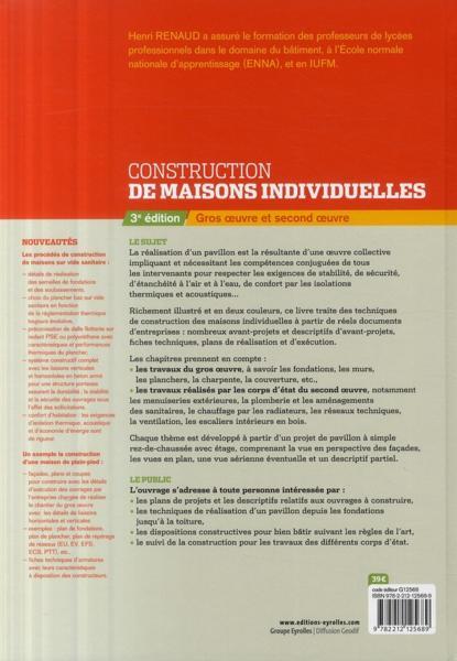 Livre construction de maisons individuelles gros oeuvre et second oeuvre 3e dition - Prix des gros oeuvres maison ...