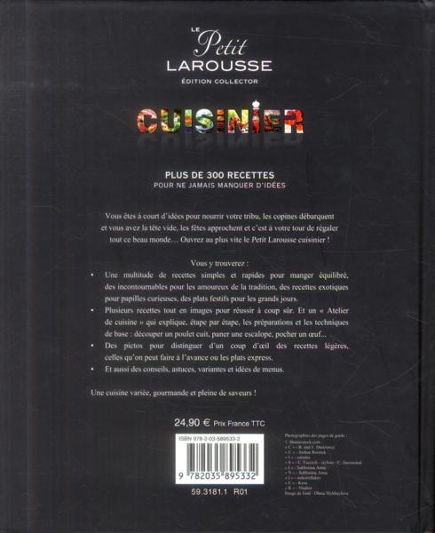 Livre le petit larousse cuisinier collectif for Petit larousse de la cuisine