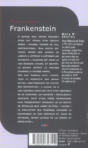 livre frankenstein mary wollstonecraft shelley. Black Bedroom Furniture Sets. Home Design Ideas