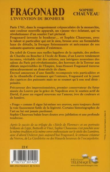 Livre fragonard l 39 invention du bonheur sophie chauveau acheter occasion 27 10 2011 - Salon des inventions paris ...