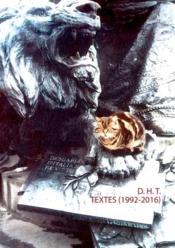 Textes (1992-2016) - Couverture - Format classique