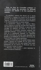 La Malediction Des Kennedy - 4ème de couverture - Format classique