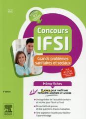 MEMO-FICHES ; concours IFSI ; thèmes sanitaires et sociaux ; mémo-fiches - Couverture - Format classique