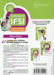 MEMO-FICHES ; concours IFSI ; thèmes sanitaires et sociaux ; mémo-fiches - 4ème de couverture - Format classique