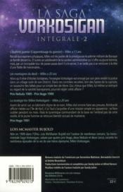 La saga Vorkosigan ; INTEGRALE VOL.2 ; T.4 A T.6 - 4ème de couverture - Format classique