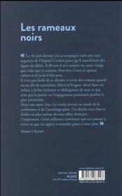 Les rameaux noirs - 4ème de couverture - Format classique