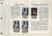 Feuillet Artistique Philatelique - Pac - Marc Chagall : Les Maries De La Tour Eiffel - Cathedrale De Chartres : Vitrail : Les Marchands De Fourrures