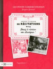Petit cahier de récitations - Couverture - Format classique