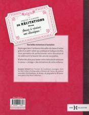Petit cahier de récitations - 4ème de couverture - Format classique