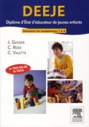 DEEJE ; diplôme d'Etat d'éducateur de jeunes enfants ; domaines de formation 1 à 4 - Couverture - Format classique