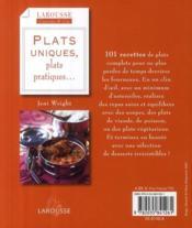Plats uniques, plats pratiques