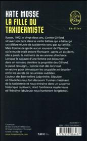 La fille du taxidermiste - 4ème de couverture - Format classique