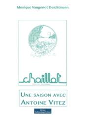 Une saison avec Antoine Vitez - Couverture - Format classique
