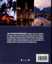 101 escapades romantiques - 4ème de couverture - Format classique