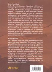 Terres Lointaines - 4ème de couverture - Format classique