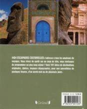 101 escapades culturellles - 4ème de couverture - Format classique