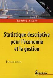 Statistique descriptive pour l'économie et en gestion
