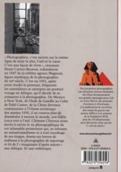 Henri Cartier-Bresson ; le tir photographique - 4ème de couverture - Format classique