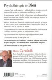 Psychothérapie de Dieu - 4ème de couverture - Format classique