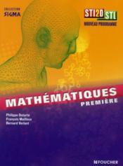 Sigma ; Mathématiques ; 1ère Sti2d Stl (Edition 2011) - Couverture - Format classique
