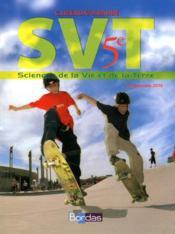 SVT ; 5ème ; manuel de l'élève (édition 2010) - Couverture - Format classique