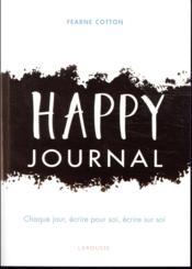 Happy journal - Couverture - Format classique