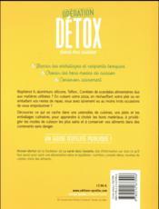 Opération detox dans ma cuisine - 4ème de couverture - Format classique