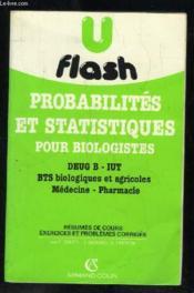 Probabilités Et Statistiques Pour Biologistes