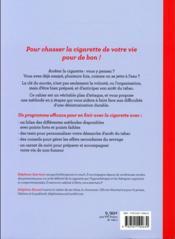 Comment j'ai décroché de la cigarette ; un plan d'attaque infaillible pour se désintoxiquer - 4ème de couverture - Format classique