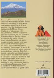 L'Armenie A L'Epreuve Des Siecles - 4ème de couverture - Format classique